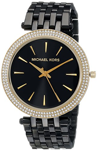 Michael Kors MK3322 39mm Black Steel Bracelet & Case Mineral Women's Watch