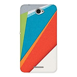 Delighted HexCol Pattern Multicolor Back Case Cover for Sony Xperia E4