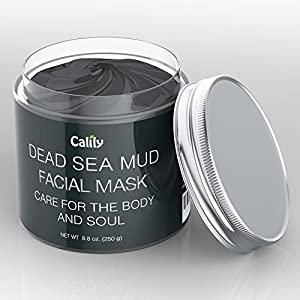 Calily Premium Dead Sea Mud Mask 8.8 Oz. - Organic Deep Skin Cleanser - Face and Body Treatment - Eliminates Acne, Wrinkles, Cellulite - Cleanses Pores, Rejuvenates Skin for Youthful Glow