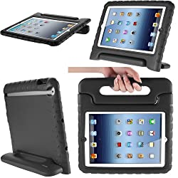i-Blason Apple iPad Air / iPad 5 ArmorBox Kido Series Light Weight Super Protection Convertable Stand Cover Case (Black)