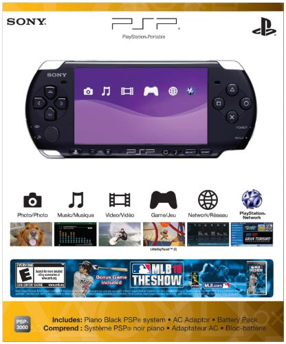 PlayStation Portable Limited Edition MLB 10 The Show Entertainment Pack - Piano Black