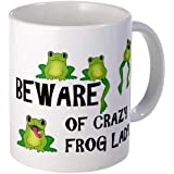 CafePress Beware of Crazy Frog Lady Mug /
