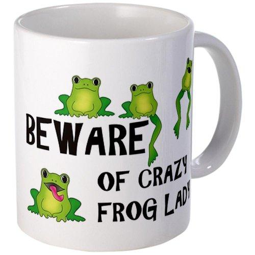 CafePress Beware of Crazy Frog Lady Mug /