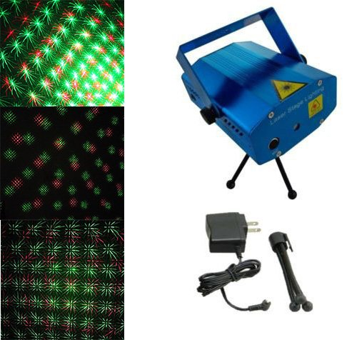 Amars(Tm) Mini Laser Stage Lights Led Party Lighting Disco Dj Lights Laser Indoor Crystal Magic Ball Sound Control For Home Club Christmas Xmas Party Blue