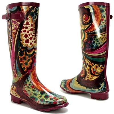 New ladies picasso adjustable calf wellies wellington boots