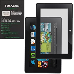 i-Blason All New i-Blason Kindle Fire HDX 8.9 Inch Tablet Matte Anti Glare Bubble Free Screen Protector Reusable (Black) Kindle Fire HD (2nd Generation 2013 Release) Matte Anti Glare Bubble Free Screen Protector Reusable