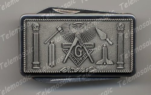 RARE only ONE ON AMAZON-SWISS PEWTER STYLE MASONIC ARMY KNIFE MONEY CLIP,MASON,FREEMASON MASTER MASONIC MASONS' Mason, Freemason Freemasons Free Mason