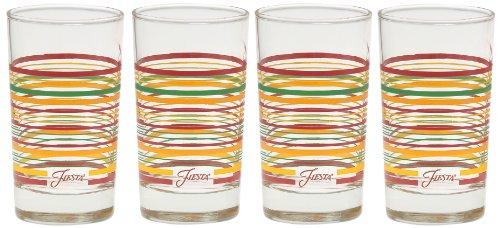Fiesta Multi-Color Stripe Glassware, 7-Ounce