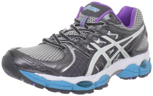 Asics Nimbus Gel 14 Para Mujer Zapatos Para Correr (blanco-púrpura-turquesa) 1PFqaVG