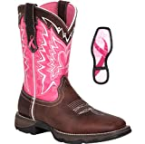 Durango RD3557 Womens Flirt Tan/Pink Saddle Western Boot 9 M US