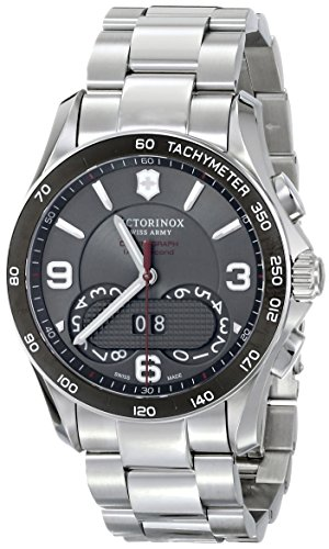 Victorinox Unisex 241618 Chrono Classic Analog Display Swiss Quartz Silver Watch