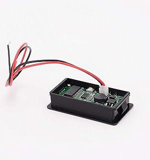 Multifunctional 48V LCD Battery Capacity Monitor Gauge Meter for Lead-Acid Battery Motorcycle Golf Cart Car, Alarm Function (Color: Alarm function-Green)