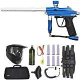 Azodin Kaos Paintball Marker Gun 3Skull Sniper Set - Blue/Silver