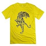 永航 男装 ジャンピングタイガー Jumping Tiger Tシャツ 半袖 クルーネック XLサイズ