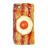 【強化ガラスフィルムセット】iPhone 6/iPhone6S(4.7インチ) 食品 サンプル ケース (ベーコンエッグ)