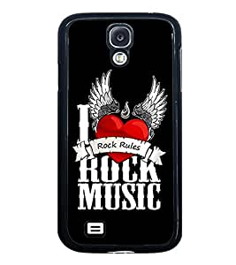 Fuson Premium 2D Back Case Cover I rock music With Multi Background Degined For Samsung Galaxy S4::Samsung Galaxy S4 i9500