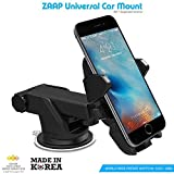 #1: ZAAP Quick Touch One Adjustable Car Windshield/Dashboard/Working Desk Mount for Phones upto  2.3 - 3.2 inches, 3rd Generation (Black)