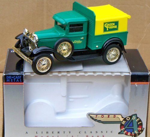 Spec Cast True Value Hardware GREEN THUMB Ford Model A Pickup Truck Bank in 1:25 - 1