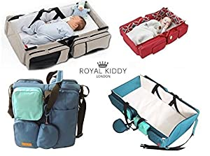 Royal Kiddy London © Moderna Bolsa De Viaje Plegable Para BebÉ 3 En 1, Cambiar PaÑales Y BebÉ Cuna en BebeHogar.com