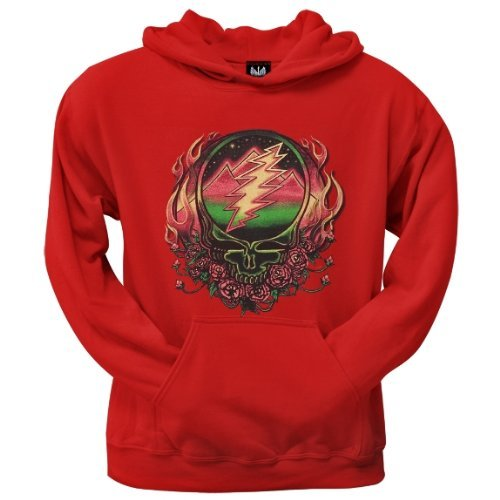 Old Glory Mens Grateful Dead - Scarlet SYF Pullover Hoodie - 2X-Large Red