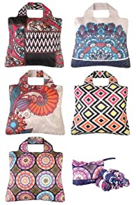 Omnisax Rolling Stone Reusable Shopping Bags 5-pack