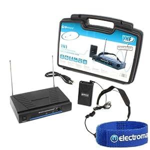 Skytec Professional Headband VHF Wireless Karaoke Microphone Mic System Set