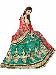 Maroosh Women's Green Colour Bollywood style lehenga choli