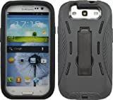 SHOCK PROOF ARMORED DEFENDER CASE/COVER FOR SAMSUNG GALAXY S III 3 S3 SIII BLACK