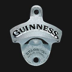 GUINNESS BLACK WALL MOUNTED BOTTLE OPENER