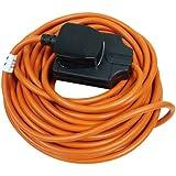 Masterplug Outdoor Power BOG10O-MS 1- Gang 10 amp Heavy-Duty Socket with 10 m Extension Lead (Orange)