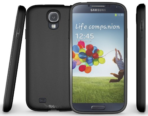 Diztronic Matte Back Black Flexible TPU Case for Samsung Galaxy S4 - Retail Packaging (S4 Bumper Case compare prices)