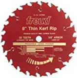 Freud LU87R008 8-Inch 22 Tooth ATB Thin Kerf Ripping Saw Blade with 5/8-Inch Arbor and PermaShield Coating