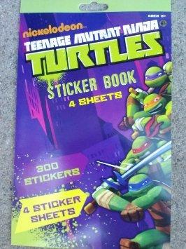 Nickelodeon Teenage Mutant Ninja Turtles Sticker Book (4 Sheets)
