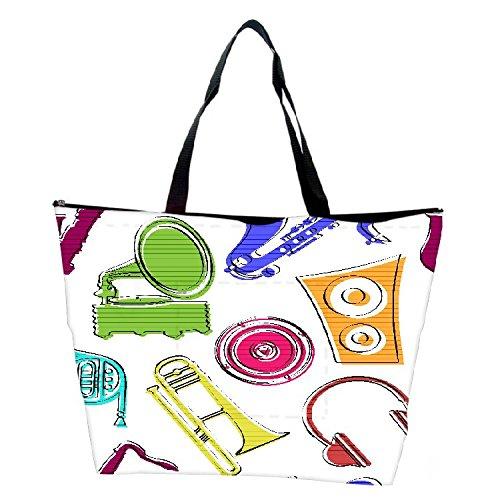 Snoogg Colorful Music Set Designer Waterproof Bag Made Of High Strength Nylon