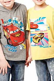 2 Pack Cotton Rich Disney Cars T-Shirts [T88-2707C-S]