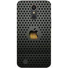 LG K10 2017 Back Cover/ LG K10 2017 Logo Printed Black Back Cover By Case Cover
