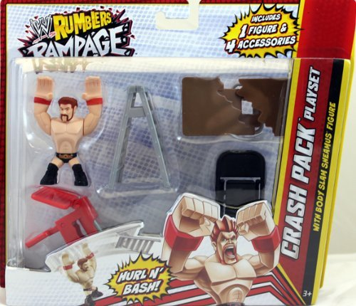 SHEAMUS W/ CRASH PACK PLAYSET - WWE RUMBLERS RAMPAGE MATTEL TOY WRESTLING ACTION FIGURES - 1