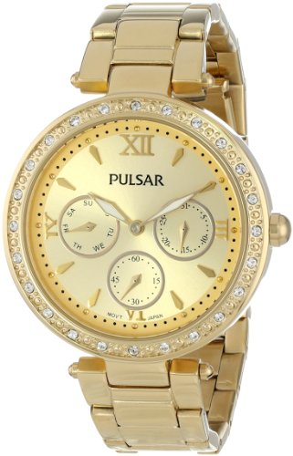 Pulsar Bracelet Gold-Tone Dial Women's Watch #PP6106
