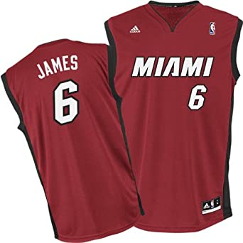 Buy James Lebron Miami Heat Maroon Alternate NBA Kids 2013 Revolution 30 Replica Jersey by adidas