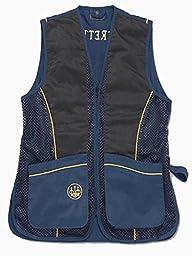 Beretta Men\'s Silver Pigeon Shooting Vest, Navy Blue/Gold, 3X-Large