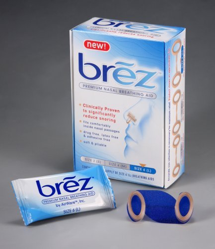 Brez, Premium Nasal Breathing Aid, Size 6 (L), 14 Breathing Aids