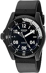 Nixon Mens A960001-00 Descender Sport Analog Display Swiss Quartz Black Watch