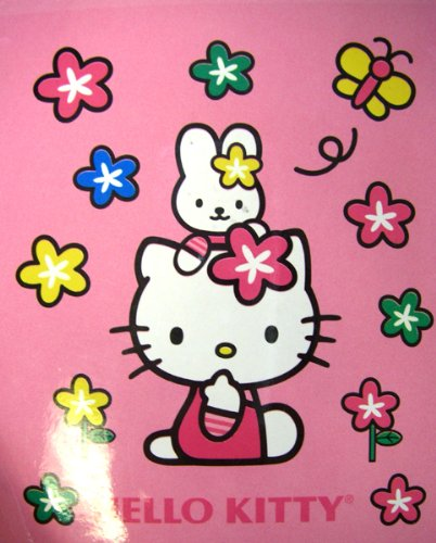 Sanrio Hello Kitty Blanket – Kitty & Rabbit Plush Throw 50inx 60in