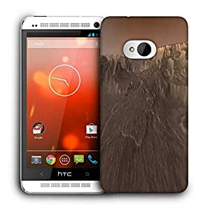 Snoogg Moon Space Printed Protective Phone Back Case Cover For HTC One M7
