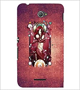 PrintDhaba Bold Girl D-4883 Back Case Cover for SONY XPERIA E4 (Multi-Coloured)