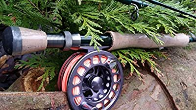 Flextec Graphite Carbon Fibre Sumo XS Fly Rod for Trout Reservoir Lake River Stream Fly Rod 4 piece Fly Fishing Trout Rod, Sea Trout, Salmon Grilse fishing Rod 9ft and 10ft in sizes 5/6, 6/7, 7/8 from Flextec