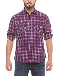 Prym Men's Casual Shirt (8907423015081_2011510201_Small_Pink Checks)
