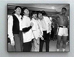 Rare Framed Muhammad Ali and The Beatles Vintage Photo. Jumbo Giclée Print