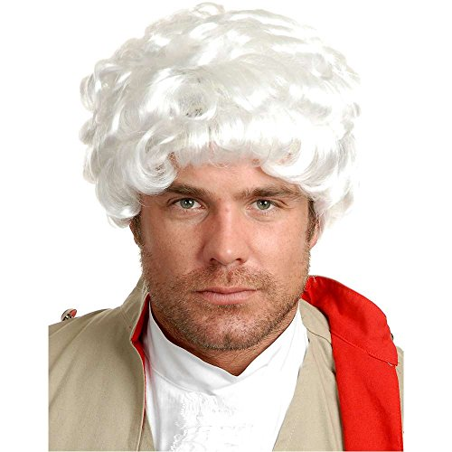 Colonial White Powdered Wig - One Size