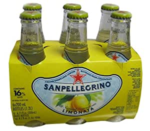 San Pellegrino Sparkling Beverage, Limonata, 6.5 Ounce (Pack of 6)